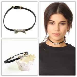 AlexisBittar Encrusted Origami Bow Choker Necklace